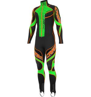 Suit Race Top Nrg L Black/Green Fluo